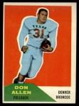 1960 Fleer #82  Don Allen  Front Thumbnail