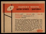 1960 Fleer #1  Harvey White  Back Thumbnail