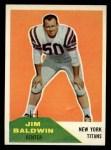 1960 Fleer #30  Jim Baldwin  Front Thumbnail