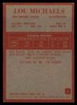 1965 Philadelphia #7  Lou Michaels     Back Thumbnail