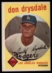 1959 Topps #387  Don Drysdale  Front Thumbnail