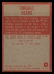 1965 Philadelphia #15   Bears Team Back Thumbnail