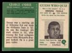 1966 Philadelphia #54  George Andrie  Back Thumbnail