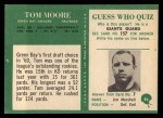 1966 Philadelphia #86  Tom Moore  Back Thumbnail