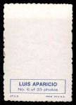1969 Topps Deckle Edge #6  Luis Aparicio  Back Thumbnail