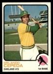 1973 Topps #545  Orlando Cepeda  Front Thumbnail