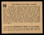 1938 Gum Inc. Horrors of War #93   Crack Rebel Calvary Attacks Loyalists Back Thumbnail