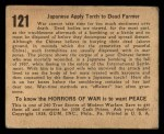 1938 Gum Inc. Horrors of War #121   Japanese Apply Torch to Dead Farmer Back Thumbnail