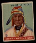 1933 Goudey Indian Gum #193  Yo-Ho-Lo-Micco   Front Thumbnail