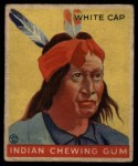 1933 Goudey Indian Gum #95   White Cap  Front Thumbnail