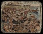 1938 Gum Inc. Horrors of War #64   Japanese Engineers Build Pontoon Bridge Front Thumbnail