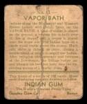 1933 Goudey Indian Gum #91   Vapor Bath  Back Thumbnail
