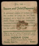 1933 Goudey Indian Gum #146   Squaw and Child  Back Thumbnail