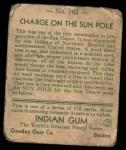 1933 Goudey Indian Gum #163   Charge on Sun Pole  Back Thumbnail