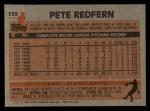 1983 Topps #559  Pete Redfern  Back Thumbnail