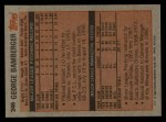 1983 Topps #246  George Bamberger  Back Thumbnail