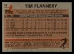 1983 Topps #38  Tim Flannery  Back Thumbnail