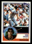 1983 Topps #325  Von Hayes  Front Thumbnail