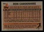 1983 Topps #469  Ron Gardenhire  Back Thumbnail