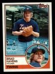 1983 Topps #751  Brad Havens  Front Thumbnail