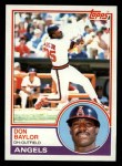 1983 Topps #105  Don Baylor  Front Thumbnail