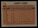 1983 Topps #340  Larry Gura  Back Thumbnail