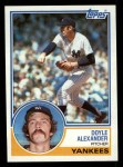 1983 Topps #512  Doyle Alexander  Front Thumbnail
