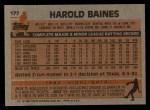 1983 Topps #177  Harold Baines  Back Thumbnail