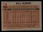1983 Topps #362  Bill Almon  Back Thumbnail
