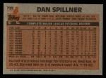1983 Topps #725  Dan Spillner  Back Thumbnail