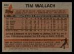 1983 Topps #552  Tim Wallach  Back Thumbnail