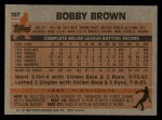 1983 Topps #287  Bobby Brown  Back Thumbnail