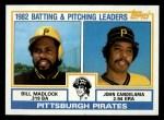 1983 Topps #291   -  Bill Madlock / John Candelaria Pirates Leaders Front Thumbnail