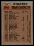 1983 Topps #291   -  Bill Madlock / John Candelaria Pirates Leaders Back Thumbnail