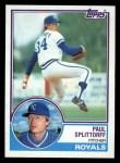 1983 Topps #316  Paul Splittorff  Front Thumbnail