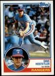 1983 Topps #584  Dave Hostetler  Front Thumbnail