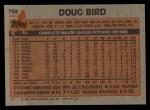 1983 Topps #759  Doug Bird  Back Thumbnail
