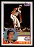1983 Topps #541  Britt Burns  Front Thumbnail