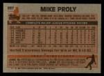 1983 Topps #597  Mike Proly  Back Thumbnail
