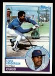 1983 Topps #335  Steve Henderson  Front Thumbnail