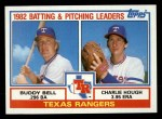 1983 Topps #412   -  Buddy Bell / Charlie Hough Rangers Leaders Front Thumbnail