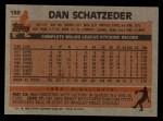 1983 Topps #189  Dan Schatzeder  Back Thumbnail
