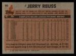 1983 Topps #90  Jerry Reuss  Back Thumbnail