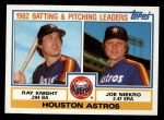 1983 Topps #441   -  Ray Knight / Joe Niekro Astros Leaders Front Thumbnail