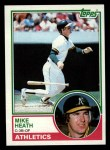 1983 Topps #23  Mike Heath  Front Thumbnail