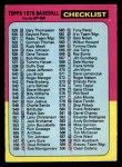 1975 Topps #646   Checklist 5 Front Thumbnail