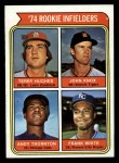 1974 Topps #604   -  Frank White / Andre Thornton / Terry Hughes / John Knox Rookie Infielders   Front Thumbnail