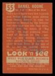 1952 Topps Look 'N See #55  Daniel Boone  Back Thumbnail