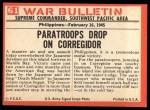 1965 Philadelphia War Bulletin #61   Assault from Above Back Thumbnail