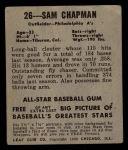 1948 Leaf #26  Sam Chapman  Back Thumbnail